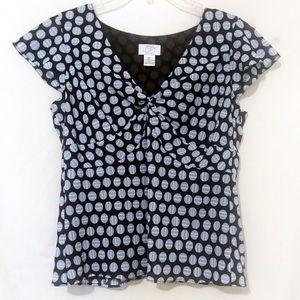 Ann Taylor Loft petites blouse top size 8 petite